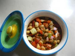 photo of chole salad