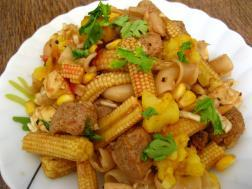 photo of baby corn salad