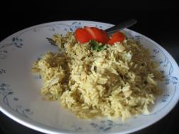 photo of Prawn Pulav with Green Massala
