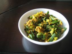 photo of Green Onion and Gram Flour Bhaji