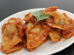 photo of cottage cheese and spinach ravioli