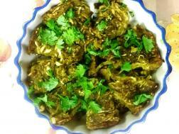 photo of kobi vadi (spicy cabbage pancake)