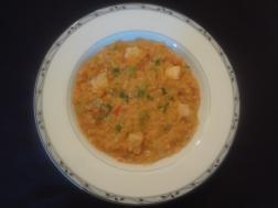 photo of lentils chicken curry
