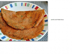 photo of lentils and Palak dosa