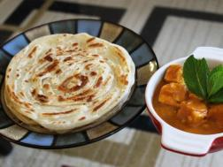 photo of malabari parotta or kerala parotta (without egg)