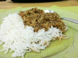 Kolhapuri Usal with Rice