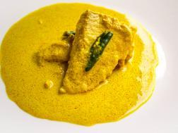 photo of microwave steamed fish in a bengali mustard sauce( bhapa mach)