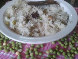 photo of peas pulao recipe