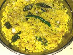 photo of phodni cha bhat ( rice seasoned with spices)