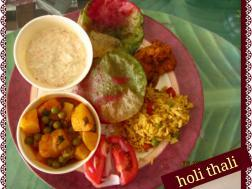 photo of holi thali