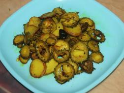 Picture of: Karela Bhaja (Simple Bitter gourd Fry )