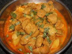 picture of Soya Nuggets Curry(Vegetarian Mutton Curry)