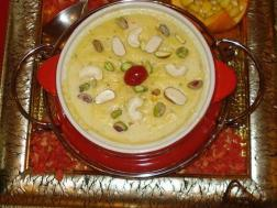 photo of kumhadh kheer(red pumpkin and rice kheer)