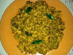 Cheruypayar Kuzhachathu or Green gram Curry (Green gram curry with coconut)