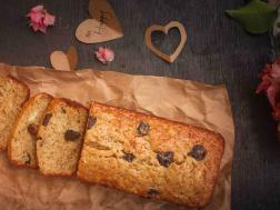photo of banana-cherry bread