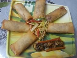 photo of Spring Rolls with Mustard Salad