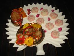 photo of  fresh nariyal  burfi-rosy coconut burfi (in asharfi shapes ) discs#myregionaldiwalirecipe