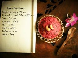photo of dragon fruit millets kesari