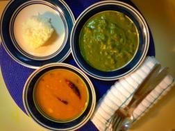 Palak Paneer & Channa Daal Tadka the perfect lunch!