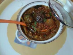 Roasted brinjal in sour and Spicy curry