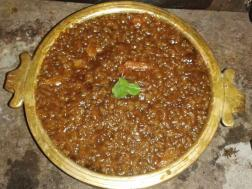Kootu payasam (Rice pudding with jaggery)