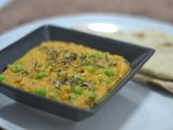 photo of methi malai matar
