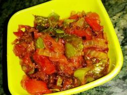 photo of hari mirch ki sabji (chili pepper curry)