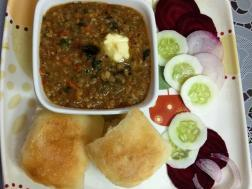 photo of oats pao bhaji